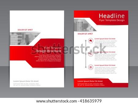 Vector Design Red White Flyer Cover Stock Photo Photo Vector