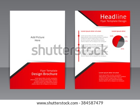 Vector Design Red White Flyer Cover Stock Vector 384587479