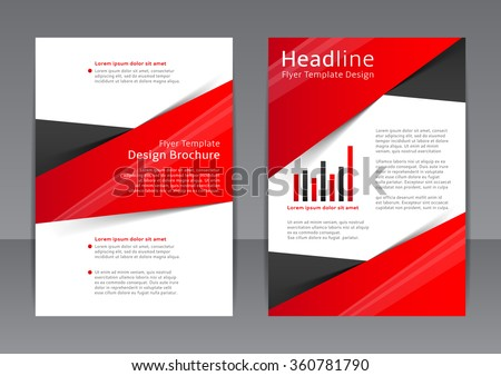 Vector Design Red Flyer Cover Brochure Stock Vector