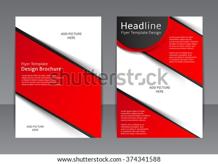 Vector Design Red Black Flyer Cover Stock Vector