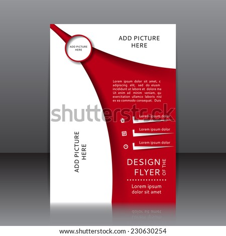 Collection Vector flyers and business cards de Andrey – Red Flyer Template