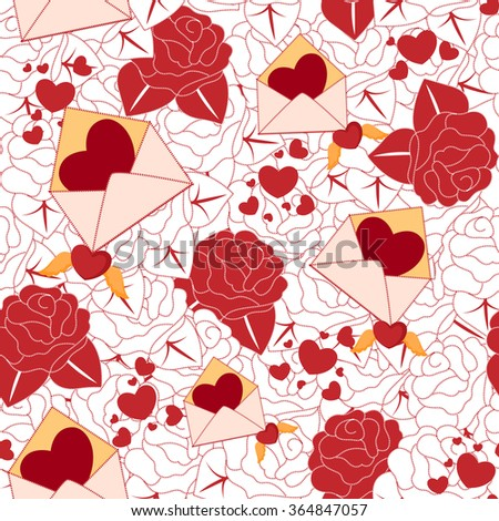 Vector design of Valentine's Day seamless pattern