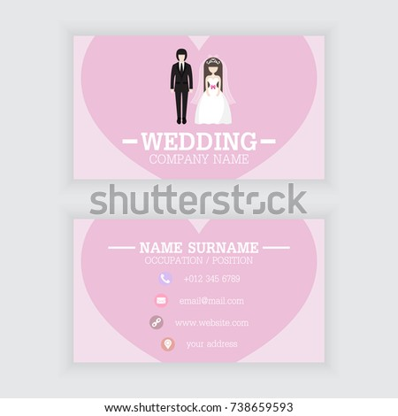 Vector design wedding business card template stock vector hd vector design of wedding business card template fbccfo