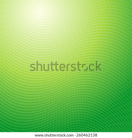 Vector design pattern. Green yellow waves abstract light background - stock vector