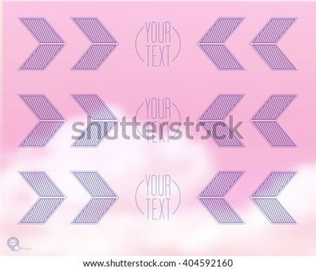 Vector design. Pink and Purple Edition of an Abstract Geometric Colorful Infographics Page Element for Web, Print or Brochure Layout  - stock vector