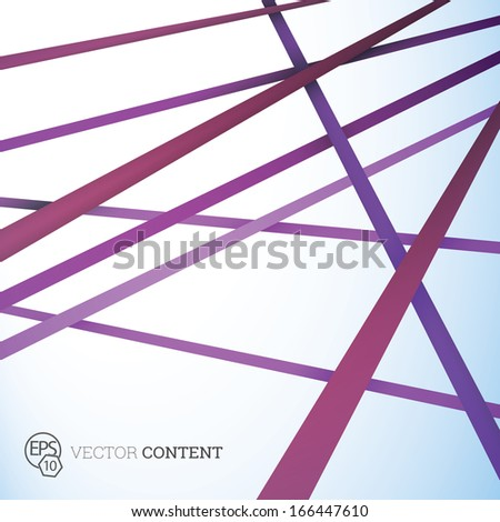 Vector design. Purple edition of straight crossing lines in a scalable eps10 geometric composition. Stripes for webdesign, printed brochure or for infographics abstract  illustration background   - stock vector