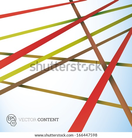 Vector design. Red yellow edition of straight crossing lines in a scalable eps10 geometric composition. Stripes for webdesign, printed brochure or for infographics abstract  illustration background   - stock vector
