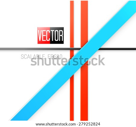 Vector Design. Scalable Eps10 Abstract Geometric Background With Trendy Retro Stripes Layout For A Brochure Or Web, For Universal Use - stock vector