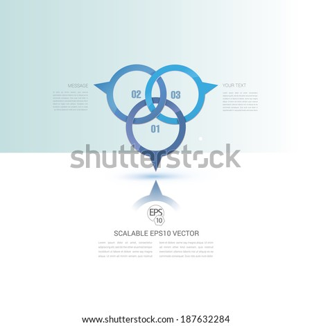 Vector design. Scalable stylized abstract geometric minimal illustration of 3d pins in an empty white space composition for digital media. Blue edition - stock vector