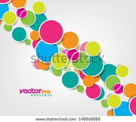 Vector Design Simple Circles Background