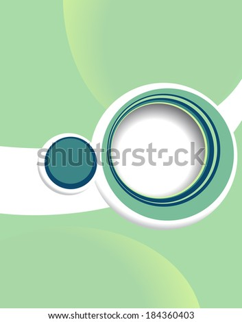 Vector design smooth wave curve lines and circles