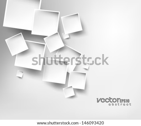 Vector Design Squares Background - stock vector