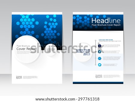 Vector design technology business for Cover Report Annual Brochure Flyer Poster in A4 size - stock vector