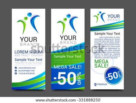 vector design technology for Cover Report Annual Brochure Flyer Poster Business cards collection, people crowd design. - stock vector