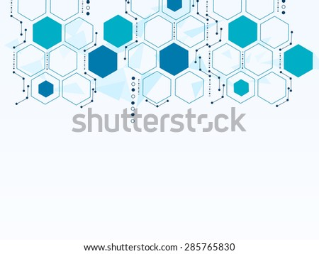 Vector design technology, Network,medical, business background. - stock vector