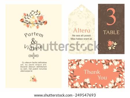 Vector Design Template Wedding Invitation Envelope Stock Vector - Wedding invitation envelope design templates