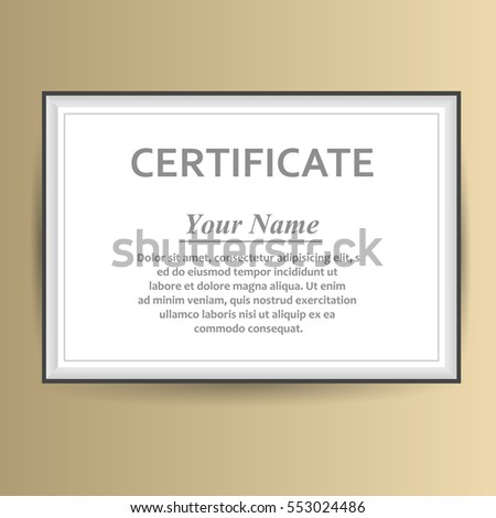 Vector design certificate template business award stock vector vector design with certificate template business award cheaphphosting Choice Image