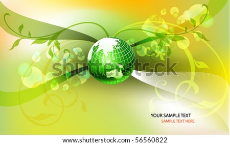 vector design with green earth globe