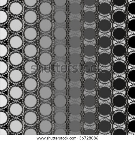 Vector design with series of round lace elements