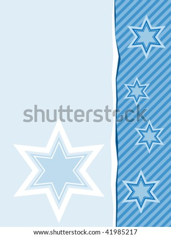 vector design with six pointed stars in shades of blue