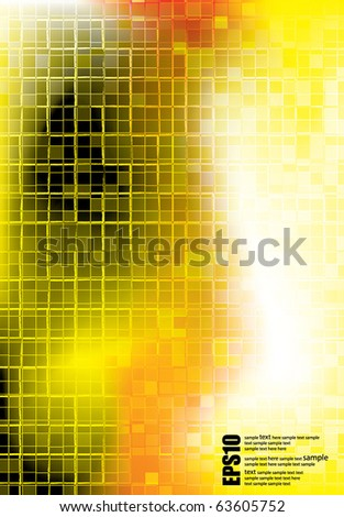 Vector. design with transparent squares - stock vector