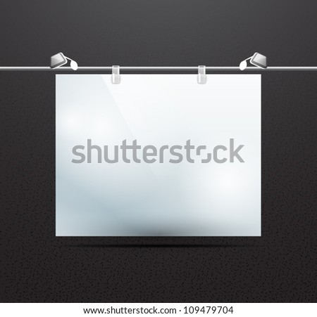 Vector detailed illustration of screen for ad decorated with noise effect - stock vector