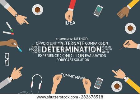 vector determination concept,template - stock vector