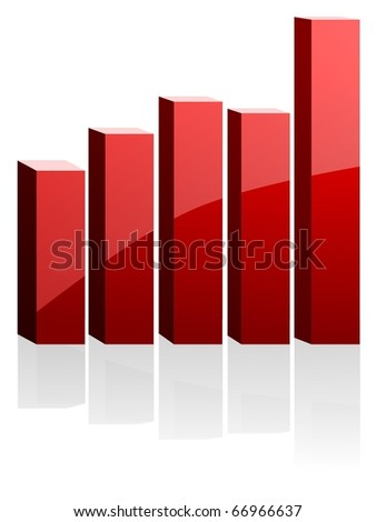 vector diagram for business - stock vector