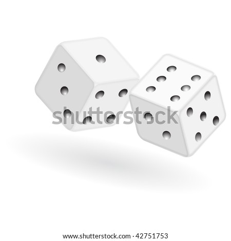 vector dice isolated on a white background