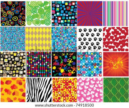 vector different patterns