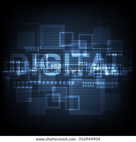 vector digital computer technology, internet signal background