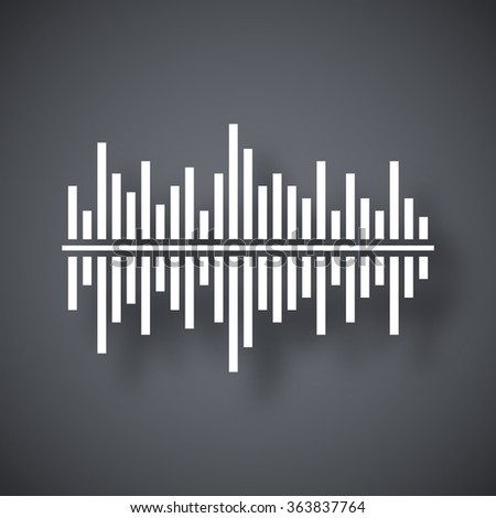 Vector digital equalizer icon - stock vector