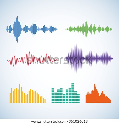 Vector digital equalizer set. Equalizer icon. Equalizer design template. Music equalizer. - stock vector