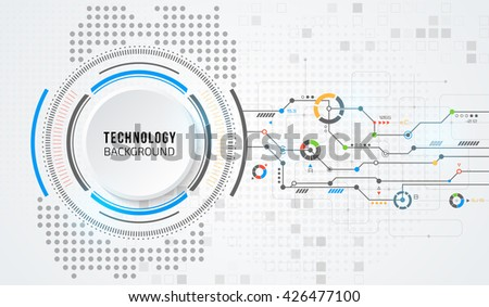 Vector digital technology concept. Abstract background. Vector illustration. - stock vector
