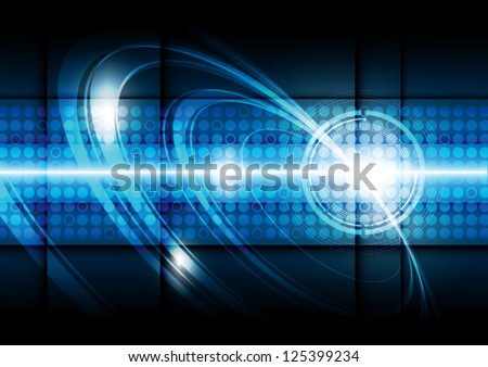 vector digital telecom technology, abstract background - stock vector