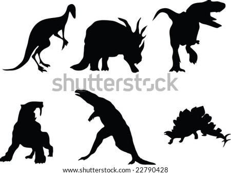 Vector dinosaurs - stock vector