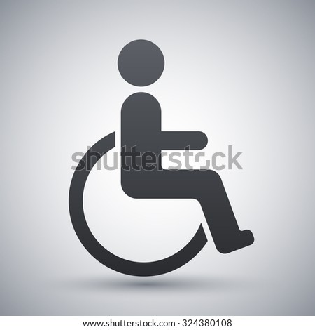 Vector disabled sign - stock vector
