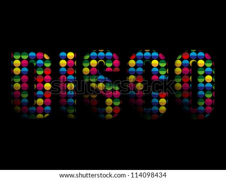 Vector - Disco Letters Party Music Colorful Alphabet - stock vector