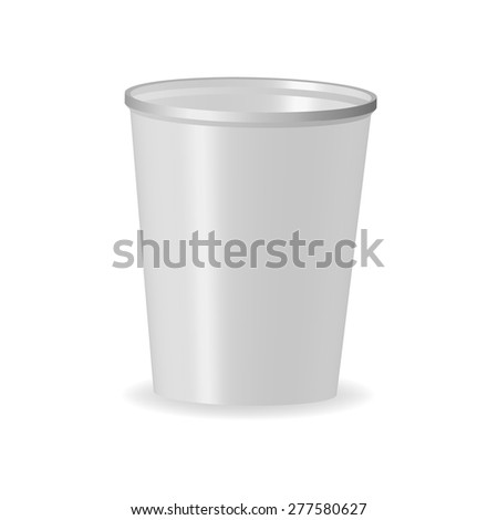 Vector Disposable Plastic Cup Mockup