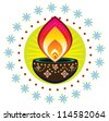 Vector Diwali Candle Light - stock vector