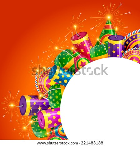 Vector diwali crackers with space for your text