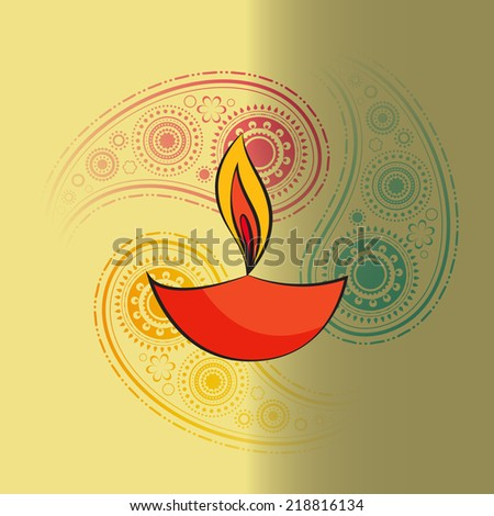 Vector diwali diya background - stock vector