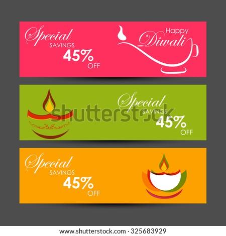 Vector Diwali Holiday Advertising Banner Illustration