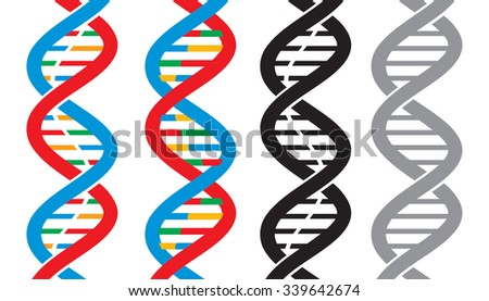 vector DNA strand icons