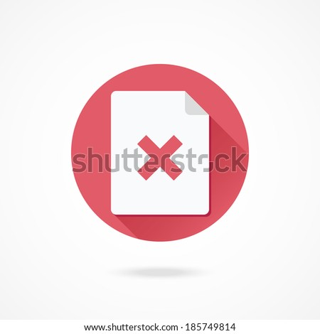 Vector Document and Cross Icon - stock vector