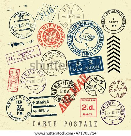 Vintage stamps background stock illustration 127045247 for Uncontrolled document stamp