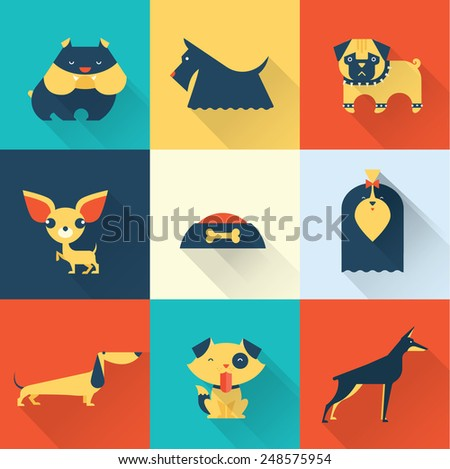 Vector Dog - stock vector