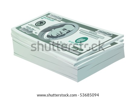 vector dollar stock - stock vector