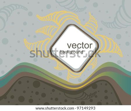 vector doodle background - stock vector