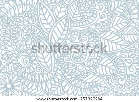 Vector doodle flowers  in gentle colors - stock vector